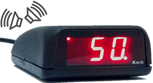 Velocímetro digital com alerta para excesso de velocidade Compass Velog GPS