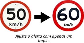Ajuste de alerta de velocidade Compass Velog