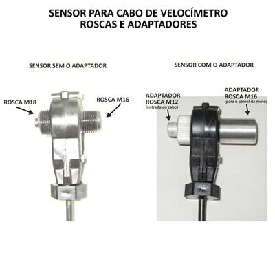 Sensor para cabo de velocímetro modelo Moto