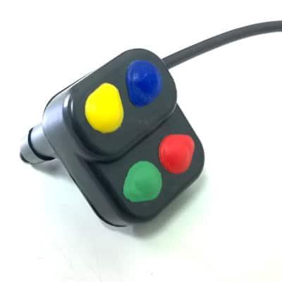 Botoeira com 4 botões para moto