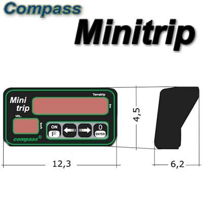 VELOCÍMETRO DIGITAL COMPASS MINITRIP 2