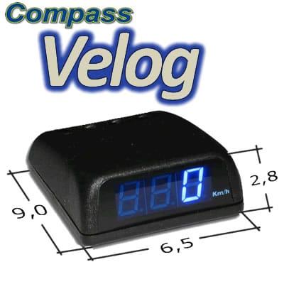 VELOCÍMETRO DIGITAL COMPASS VELOG 2
